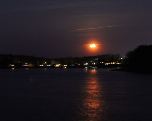 Moonrise over the Merrimack River on May 4th