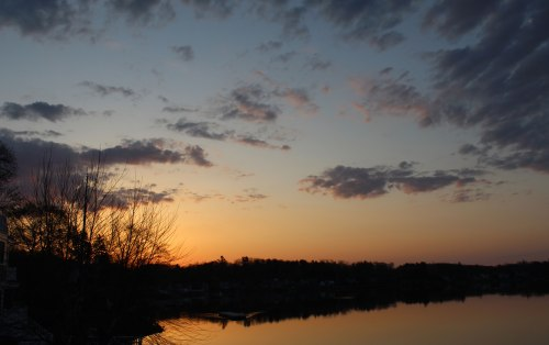 Sunrise today along the Merrimack River in Amesbury