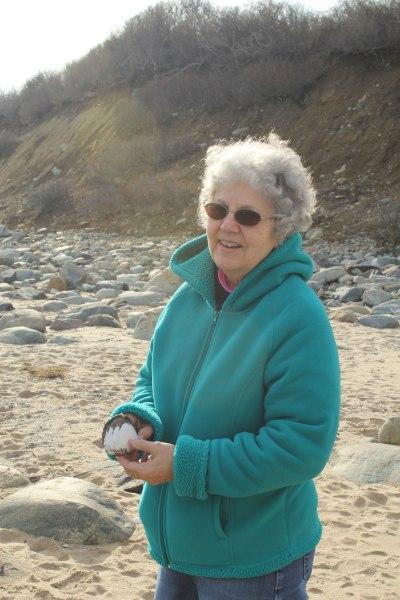 My wonderful wife at Plum Island Reserve.